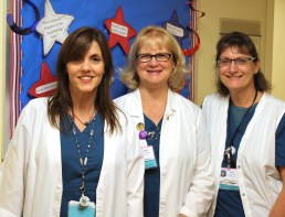 Susan Dennis on the right with fellow TMC IBCLC Lactation Consultants