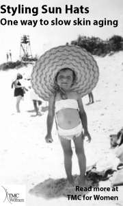 Sun hats protect against skin aging